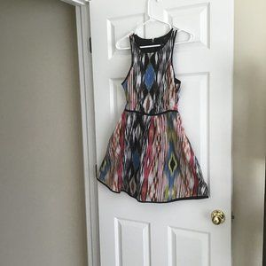 Fire LA Sleeveless Lined Southwestern Print Dress